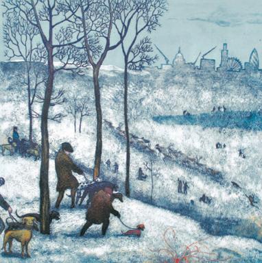 Richmond Park – Winter, after Bruegel
