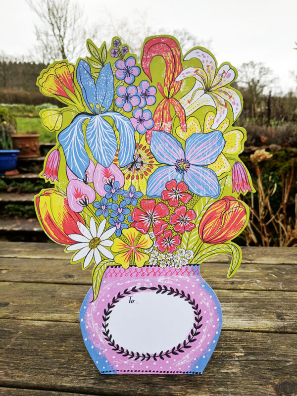 Flowers For You Alice Pattullo Cut out Card