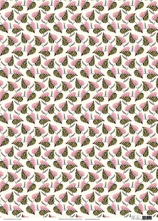Kilburn Hearts Gift wrap sheet full size
