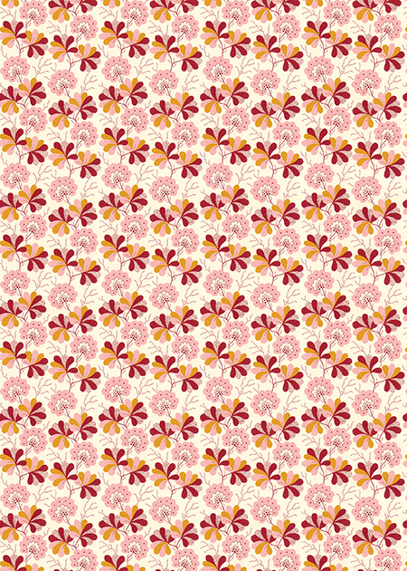 Wallpaper Floral Pocket Print Small Card