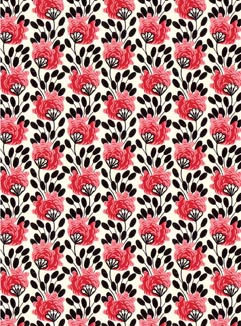 Spotted Flowers Pocket Print Small Card