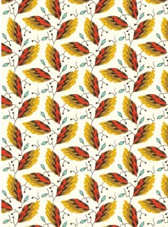 Fire Leaf Pocket Print Small Card