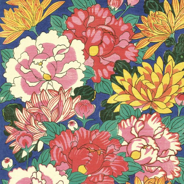 MFA Chysanthemums and Peonies Gift wrap sheet