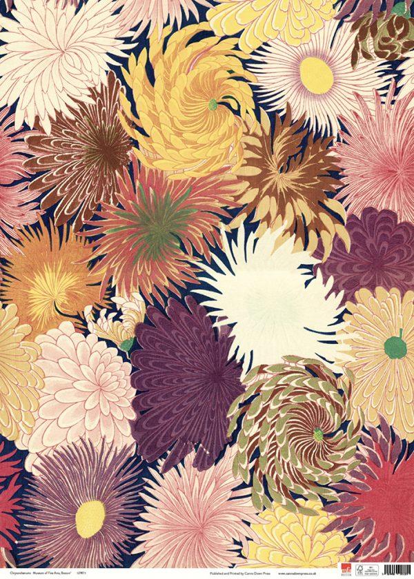 MFA Chysanthemums Gift wrap sheet full size