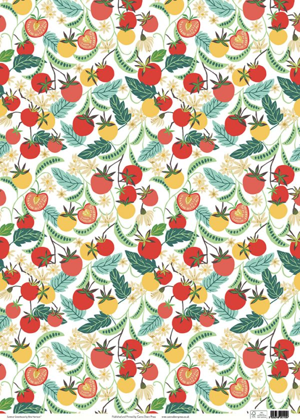 Brie Harrison Summer Greenhouse gift wrap sheet full size