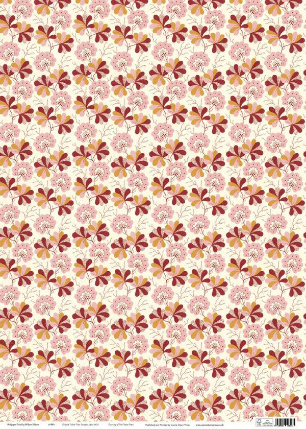 Kilburn Wallpaper floral Gift wrap sheet full size