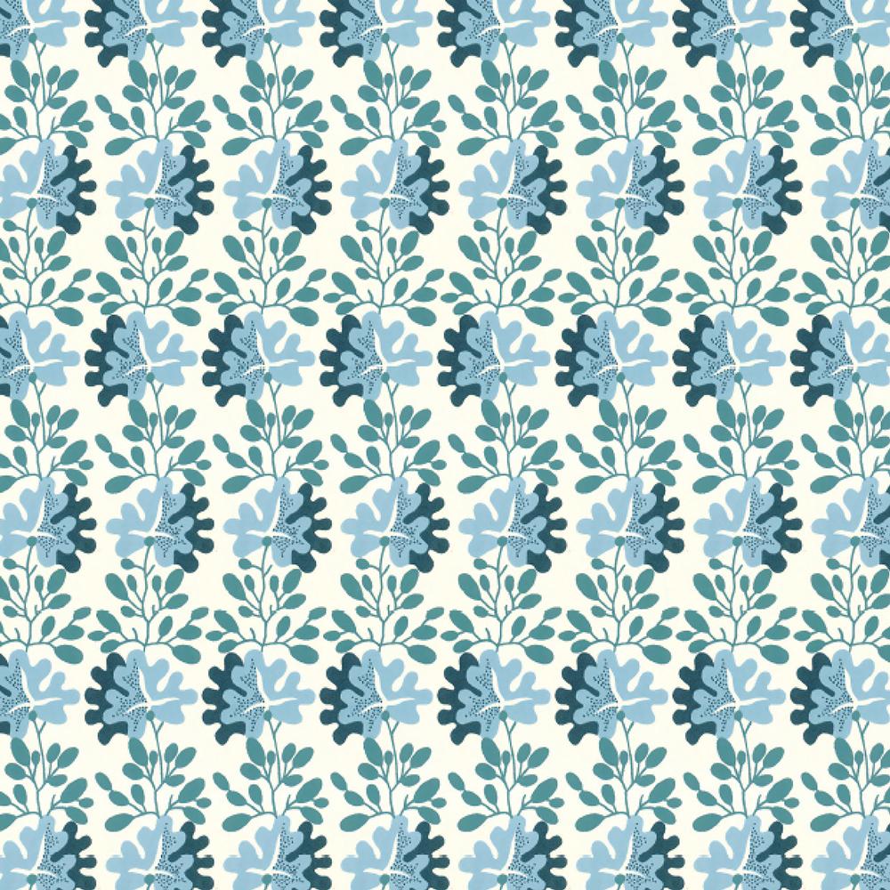 Blue Leaf Gift Wrap Sheet