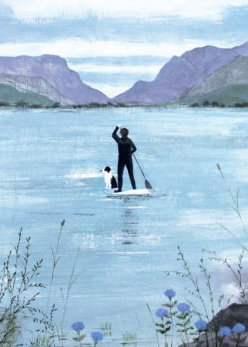 Paddleboarding, Llanberis