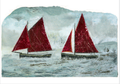 Two Red Sailed Ships, Stiffkey