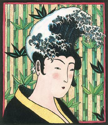Mrs Hokusai's Hairdo