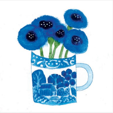 Cornflowers in Wedgwood Mug