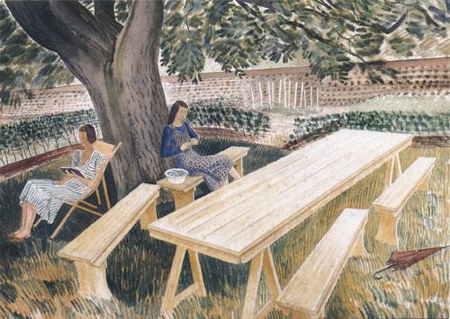 Two Women in a Garden