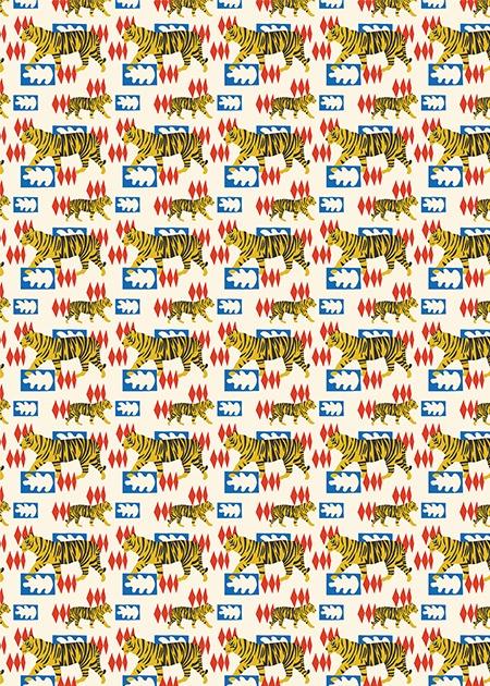 Hello Tiger Pocket Print Small Card