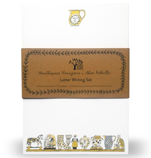 Letter Writing Set: A Mantlepiece Menagerie, Mustard