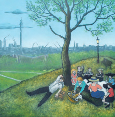 Primrose Hill - Summer, after Bruegel