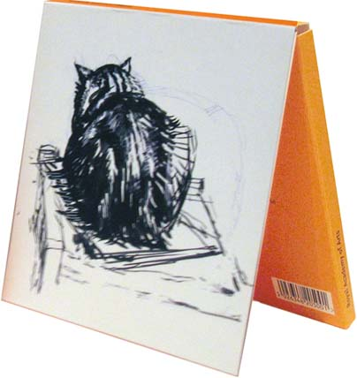 Notecards: Study of a Cat: Dorsal View and Cat Asleep on a Chair