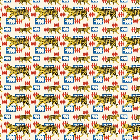 Hello Tiger Gift Wrap Sheet