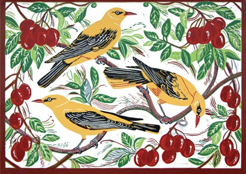 Golden Orioles & Plums