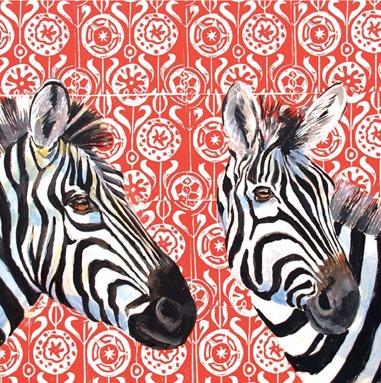 Zebras on Blockprint