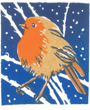 CHRISTMAS CARD PACK (5) Robin