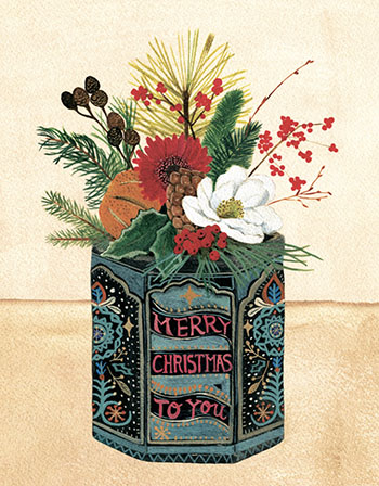 CHRISTMAS CARD PACK (5) Christmas Tin