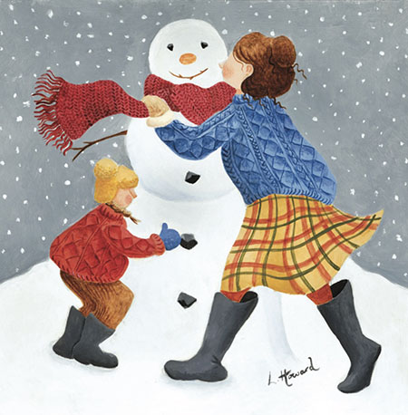CHRISTMAS CARD PACK (5) Snowman Fun