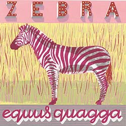 Z is for Zebra, striped black and white