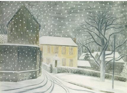 CHRISTMAS CARD PACK (5) Halstead Road in Snow