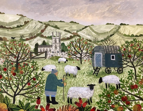 Vanessa Bowman The Shepherds Hut contemporary art greetings card