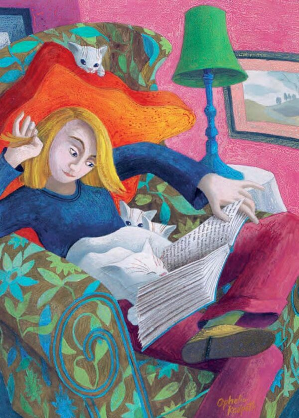 Ophelia Redpath Storytime contemporary art greetings card