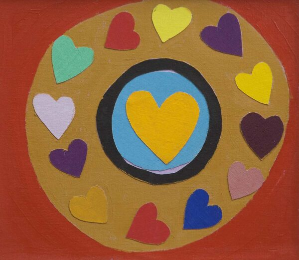 Sir Terry Frost Hearts contemporary art greetings card