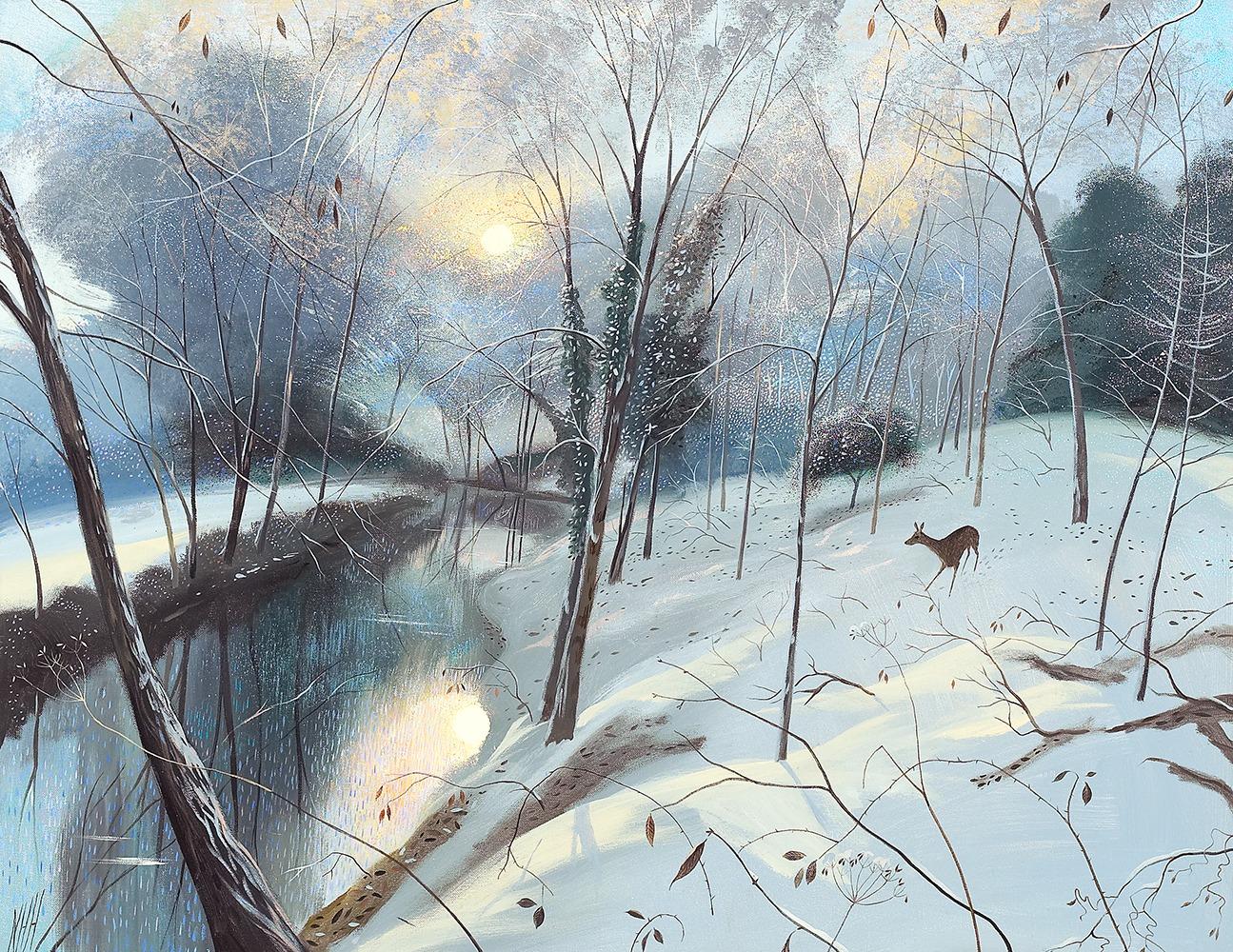 AGBI CHRISTMAS CARD 5 PACK - Winter Morning